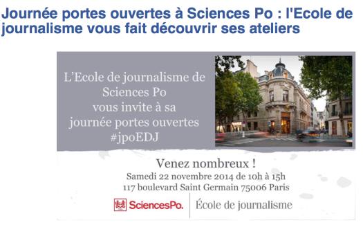 Journée portes ouvertes à Sciences Po