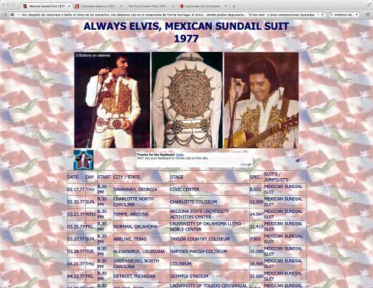 Always Elvis | Mexican Sundial Suit