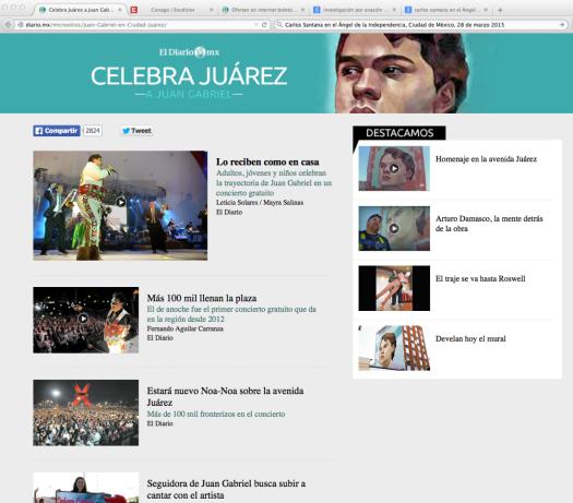 Celebra Juárez a Juan Gabriel
