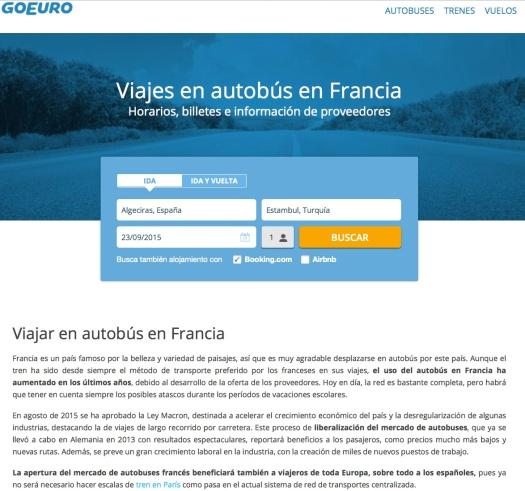 Uso justo de un anuncio al público sobre una ley francesa. Imagen capturada para fines ilustrativos y de información sin fines de lucro. || Vía: http://www.goeuro.es/autobuses/francia