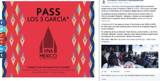 Uso justo de una captura de páginas de los interwebs para pasarle revista al festival de cine que —éste blog propone— fue el evento con el que se le midió el agua a los camotes en Francia, para poder RELANZAR el Año de México en Francia y suavizar lo que en el mes de junio se vio marchar por las calles de París: el ejercito de Enrique Peña Nieto y 'las águilas' de los Azcárraga (los de Churubusco). || El uso justo de los medios y 'sus partneres' llegó vía: https://www.facebook.com/vivamexicorc