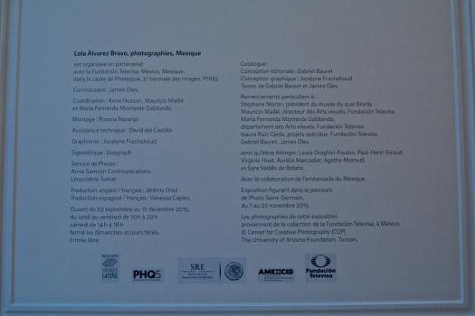 Datos de la Empresa: Expo de Lola Álvarez Bravo, <> en La Casa de la América Latina en París.