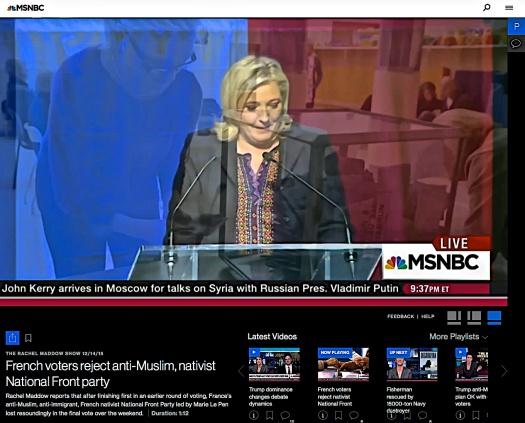 Nativist Front National NoGo | Uso justo de un boletín informativo desde Nueva York, vía MSNBC. || Trascendió el pasado domingo en todo Francia, que el vernácularmente peculiar —partido— del Frente Nacional no logró afianzar ninguno de los comicios desde donde saldrán los próximos consejos regionales franceses.