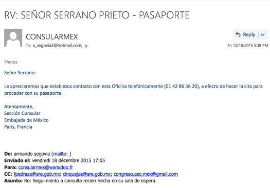 Sr. Serrano Prieto   Cita