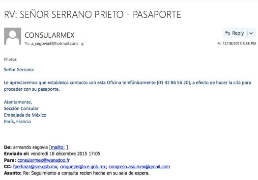 Sr. Serrano Prieto | Cita
