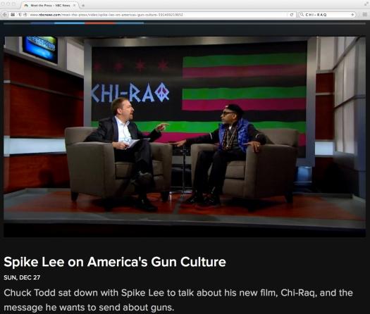 Uso justo de Spike Lee!!! Y lo que son las cosas, en esa entrevista, Chuck Todd uso como ejemplo la violencia en Honduras —hoy en los EE.UU. un juez ordenó que salga a la LUZ todo lo relacionado con el trasiego de armas del programa Rápido y Furioso.
