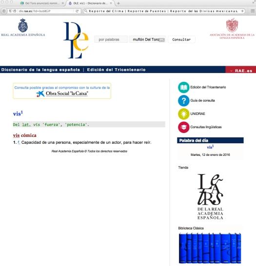 Uso justo de una caja de letras para ilustrar la palabra del día en la Real Academia Española... a der ser día del arlequin en las regiones de Bizkaia.