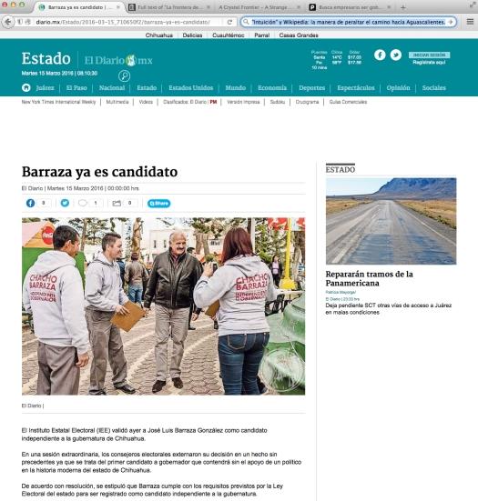 Uso justo de los medios. | Uso justo de El Diario de Juárez para ilustrar a cómo está el tipo de cambio, en Ysleta.