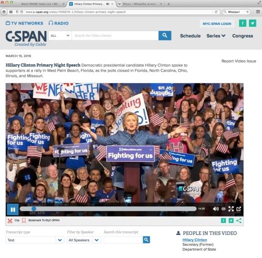 Secretary Clinton Gana.