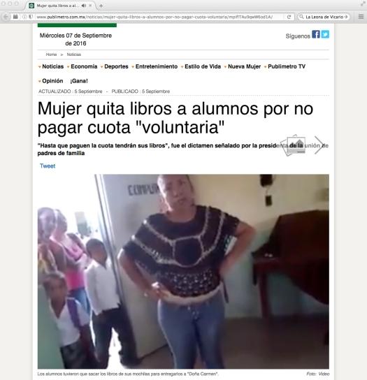Uso justo del Publimetro, y de una mujer abusona en Veracruz.