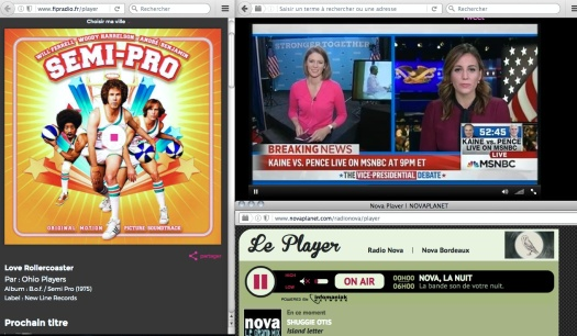 Uso justo de Saturday Night Live, MSNBC y la radio en Francia. | Fair use of media—you guys!!!