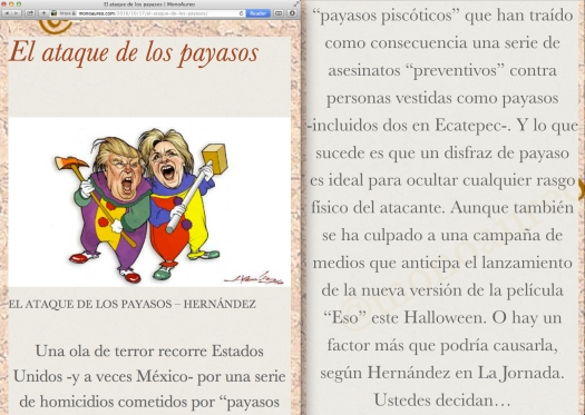 Fair use of The Guardian newspaper en Español… y de Hernández en La Jornada.   This is MonoAureo update.