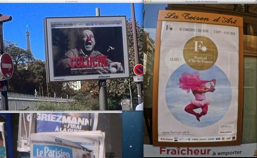 Aujourd'hui en Le Parisien, la nota principal fue la del soundtrack de la elección francesa del 2012. Fuentes cercanas al asunto de Kim, dicen que en los Estados Unidos hasta, en seco, paró un recital de Kanye West. | Uso justo de todos los medios; por si las moscas.