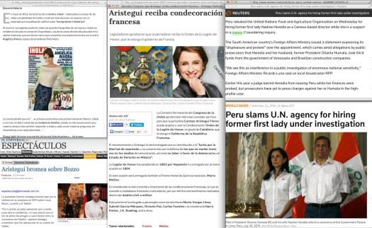 Of course… todo el mundo sabe que fueron los franceses, quienes inventarón La Opinión; los españoles —por otro lado— esos cabrones fueron los que sacaron la idea de imprimir [primero] un Cambio 16. [Context follows] | Uso justo de El Universal, y de las noticias de los Reuters.
