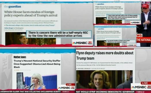 """Context continues to develop…   Uso justo de todos los guardianes en """"el"""" msnbc."""