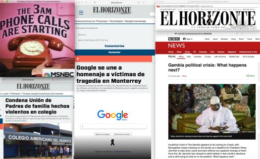 Las noticias de ayer y las de hoy. —|— Fair use of media, the interwebs, and of course the BBC.